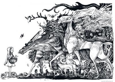 """image de Affiche """"Forest"""" de Lionel Richerand (70 x 50 cm)"""