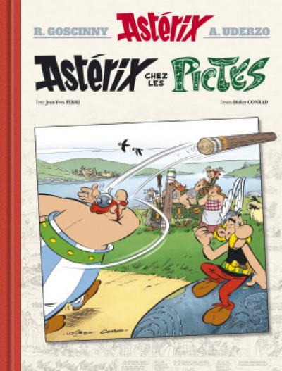 Page e Astérix - édition de luxe tome 35 - chez les pictes