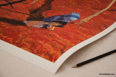 Page 1 Couverture Le Grand Mort tome 1 - 50*70 cm