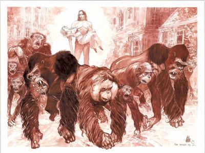 Page 1 Tirage de tête John Arthur Livingstone - Roi des singes tome 2