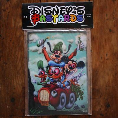 Couverture Cartes postales - Disney Bastards
