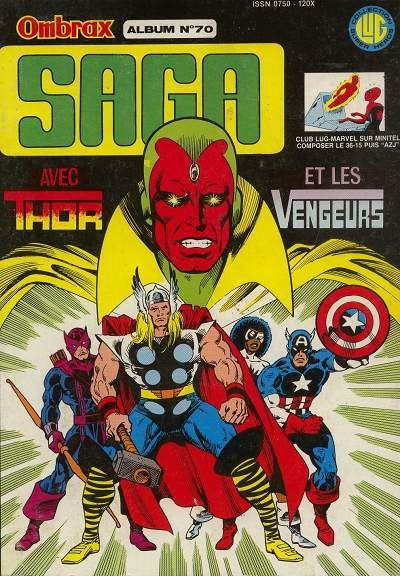 Couverture Ombrax Saga - Album N°70 (du n°255 au n°258) (éd. 1987)
