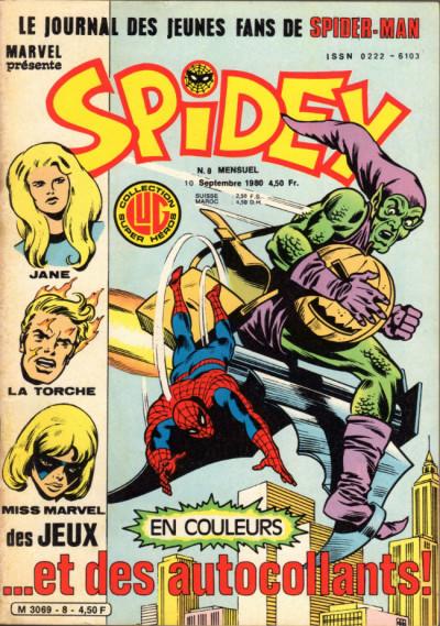 Couverture Spidey tome 8 - Spidey 8 (éd. 1980)