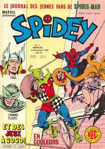 Couverture Spidey tome 11 - Spidey 11 (éd. 1980)