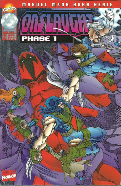 Couverture Marvel Méga Hors Série tome 2 - Onslaught (éd. 1998)