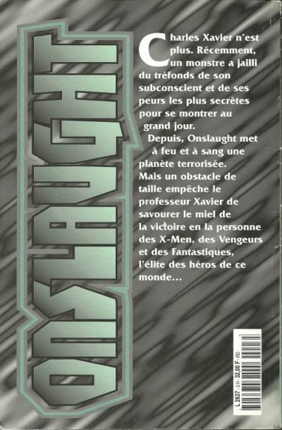 Dos Marvel Méga Hors Série tome 3 - Onslaught (éd. 1998)