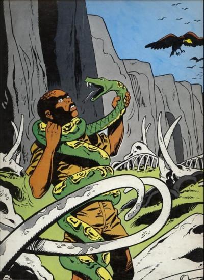 Dos Tiger Joe tome 2 - La piste de l'ivoire (éd. 1977)