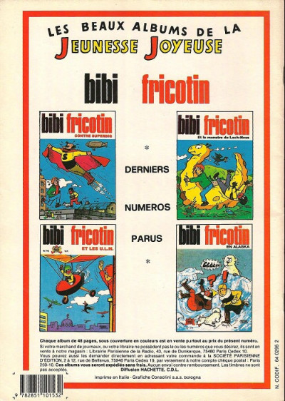 Dos Les Pieds Nickelés (3e série) (1946-1988) tome 86 - Les pieds nickelés dans le harem