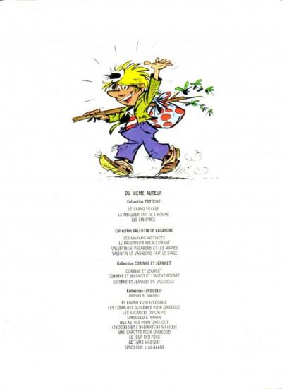Couverture Valentin le vagabond tome 4 - Valentin fait le singe (éd. 1974)