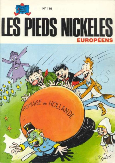 Couverture Pieds Nickelés (Les) - La collection (Hachette) tome 110 - Les Pieds Nickelés européens (éd. 1980)