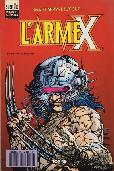 Couverture Top BD tome 26 - L'Arme X (éd. 1992)