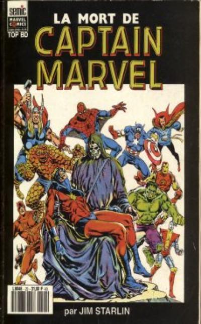 Couverture Top BD tome 2 - La mort de Captain Marvel (éd. 1993)