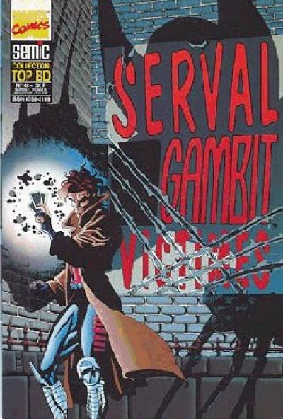 Couverture Top BD tome 43 - Serval / Gambit - Victimes (éd. 1996)