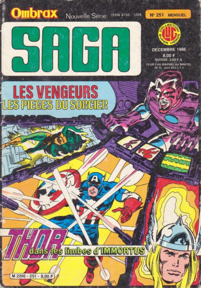 Couverture Ombrax Saga tome 251 - Ombrax Saga 251 (éd. 1986)