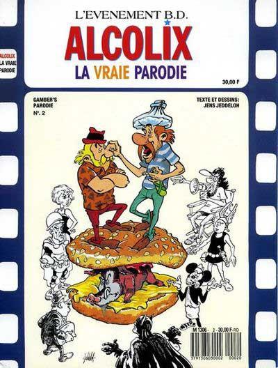Couverture Astérix (Autres) tome 4 - Alcolix, la vraie Parodie (éd. 1989)