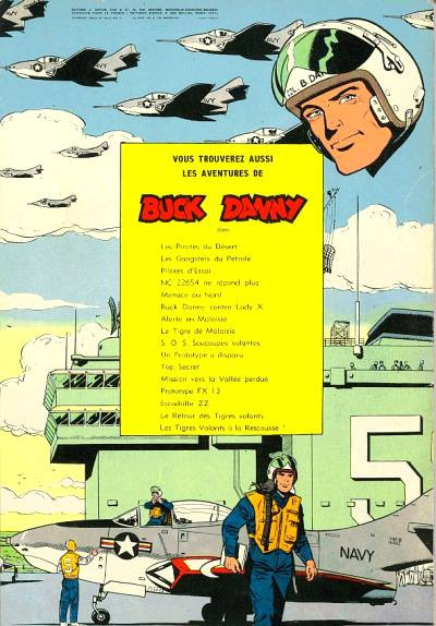 Couverture Buck Danny tome 28 - Tigres volants contre pirates (éd. 1962)