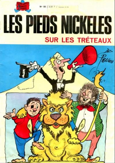 Couverture Les Pieds Nickelés (3e série) (1946-1988) tome 55 - Les pieds nickelés sur les tréteaux