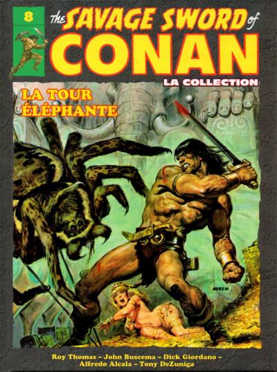 Couverture Savage Sword of Conan (The) - La Collection (Hachette) tome 8 - La tour éléphante (éd. 2018)