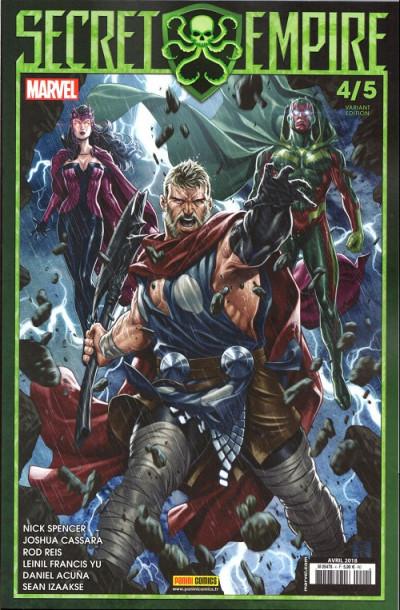 Couverture Secret Empire - variant cover tome 4