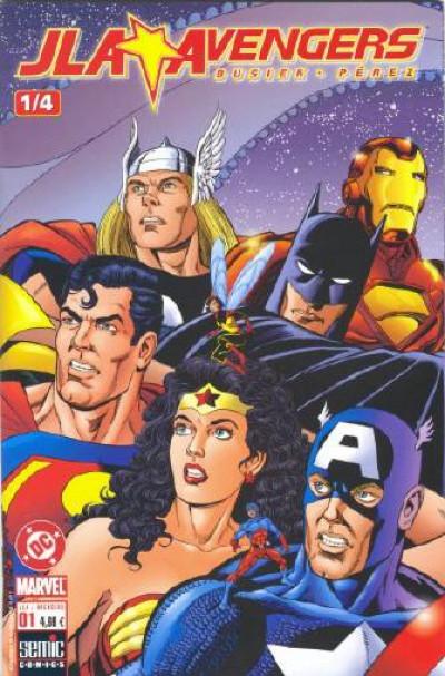 Couverture JLA - Avengers tome 1 - Livre Un : Voyage dans le mystère