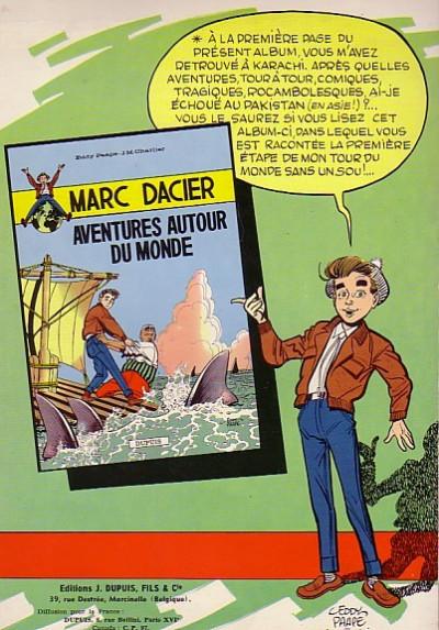 Dos Marc Dacier (1re série) tome 2