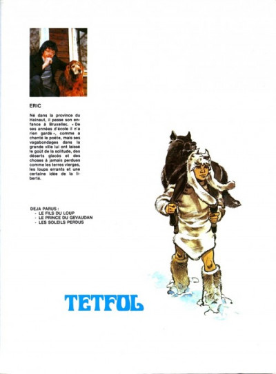 Couverture Tetfol tome 3 - Les soleils perdus (éd. 1982)