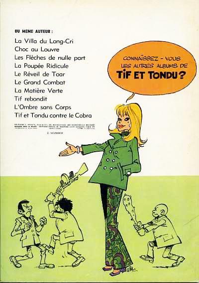 Couverture Tif et Tondu tome 18 - Le roc maudit (éd. 1972)