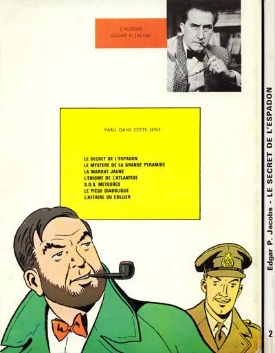 Couverture Blake et Mortimer - La collection (Hachette) tome 2 - Le Secret de l'Espadon 2 (éd. 1970)