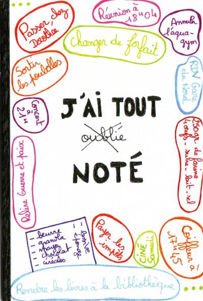 Page 1 J'ai tout noté - Carnet de note