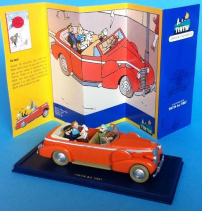 Page e Figurine Tintin au tibet - Décapotable taxi