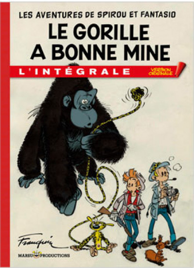 Page e Spirou et Fantasio - tirage de tête VO tome 3 - le gorille a bonne mine
