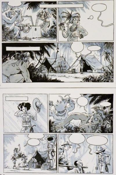 Page b Planche originale Johnny Jungle ; p°23