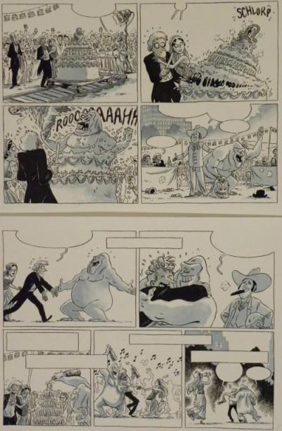 Page 1 Planche originale Johnny Jungle ; p°71