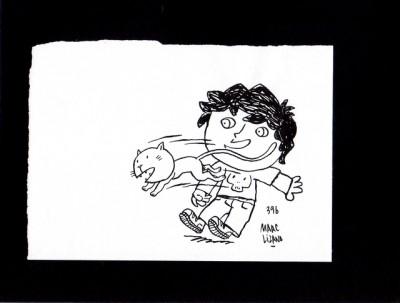 Page 1 Illustration originale Hugo et Cagoule ; page 1 (case 4)