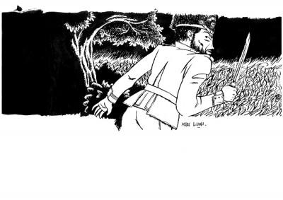 """image de Illustration à l'encre """"Général"""""""