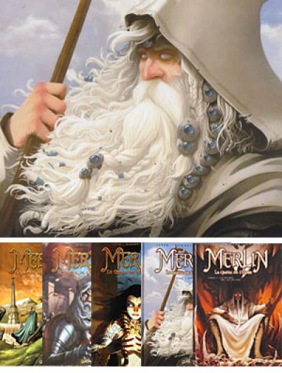 image de Lot Merlin la quête de l'épée tomes 1 à 5