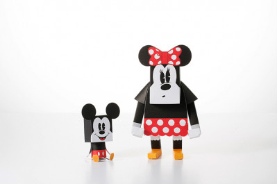 Page 8 Paper Toys Momot : Minnie et Mickey (M)