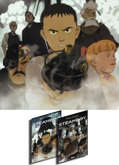 Page y Pack Steamboy tomes 1 et 2