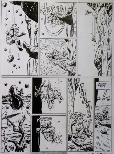 Page 0 Planche originale Edmond le Cochon ; p° 25b