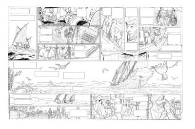 Page 7 Planche originale Sarrasins ! ; double page 6-7