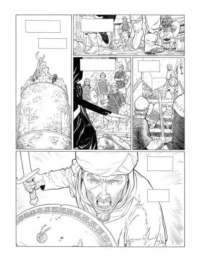Page 5 Planche originale Sarrasins ! ; page 45