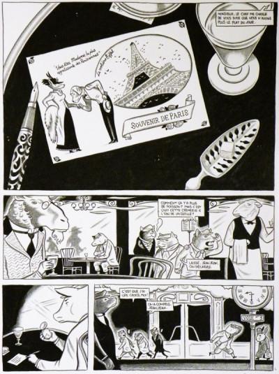 Page 4 Planche originale Hélas ; p°9