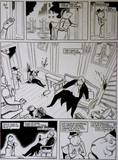 Page 9 Planche originale Hélas ; p°47