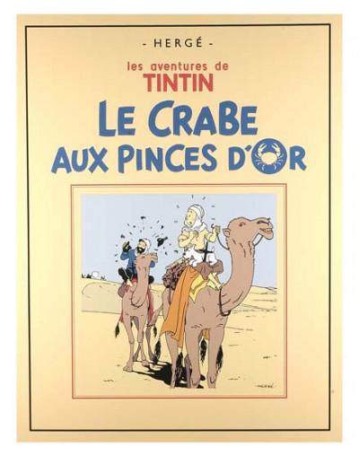 Page . Sérigraphie Tintin le Crabe aux pinces d'or