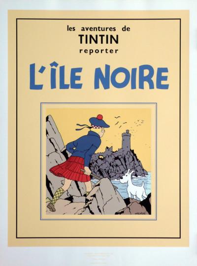 Page e Sérigraphie Tintin L'Ile Noire