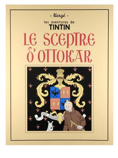 Page r Sérigraphie Tintin Le Sceptre d'Ottokar