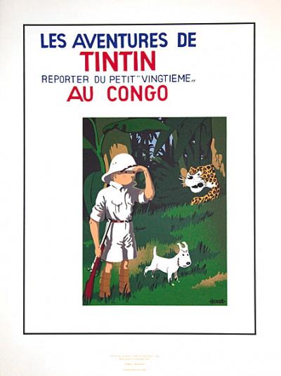 Page o Sérigraphie Tintin au Congo