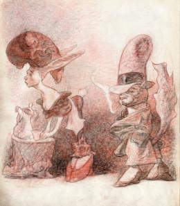 Dessin original de Carlos Nine - crayons sur papier 35x25