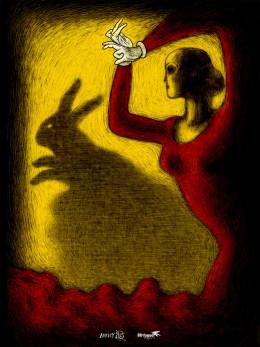Affiche festival animation Annecy 2015 30x40 cm signée et numérotée