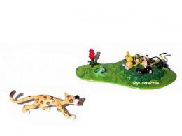 Figurine Marsupilami bébés et jaguar